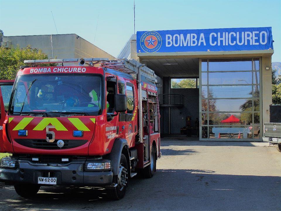 Así enfrentan los bomberos de Chicureo el Coronavirus