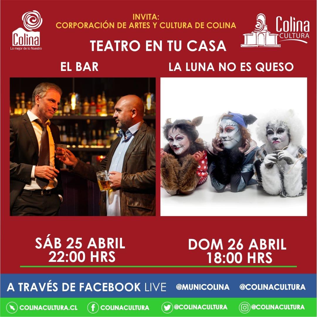 """Teatro en tu Casa presenta: """"El Bar"""" y """"La Luna no es de Queso"""""""