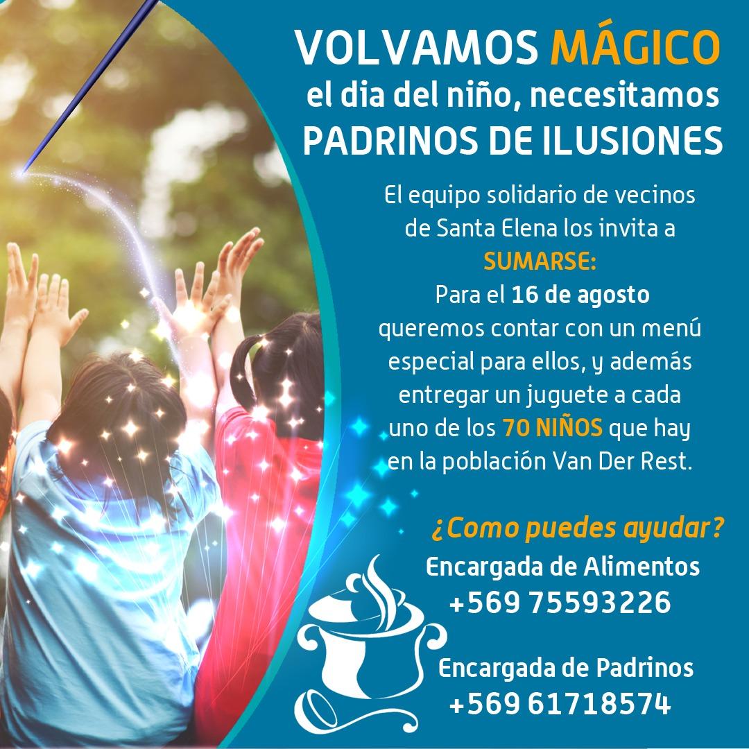 Santa Elena invita a ser «Padrinos de Ilusiones»