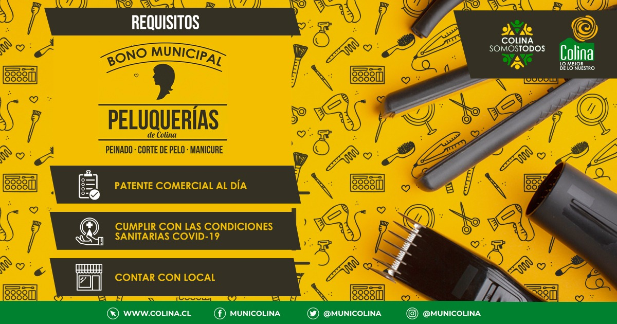 Municipalidad de Colina entrega Bono Peluquerías