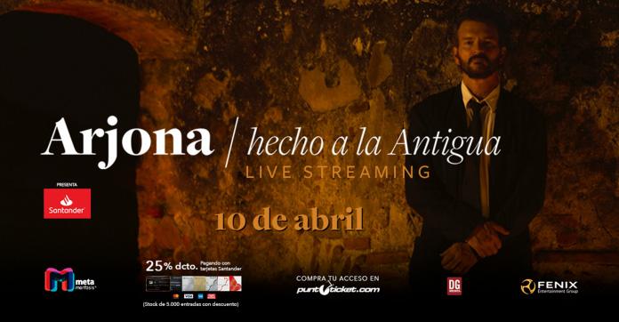 """""""Hecho a la antigua"""": El espectáculo virtual que dará Ricardo Arjona desde la antigua Guatemala"""