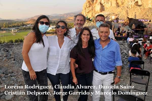 Lorena Rodriguez, Claudia Alvarez, Daniela Sainz, Cristián Delporte, Jorge Garrido y Marcelo Domíngez