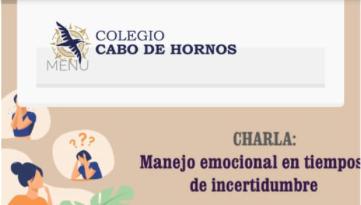 """Invitación a charla: """"Manejo emocional en tiempos de incertidumbre"""""""