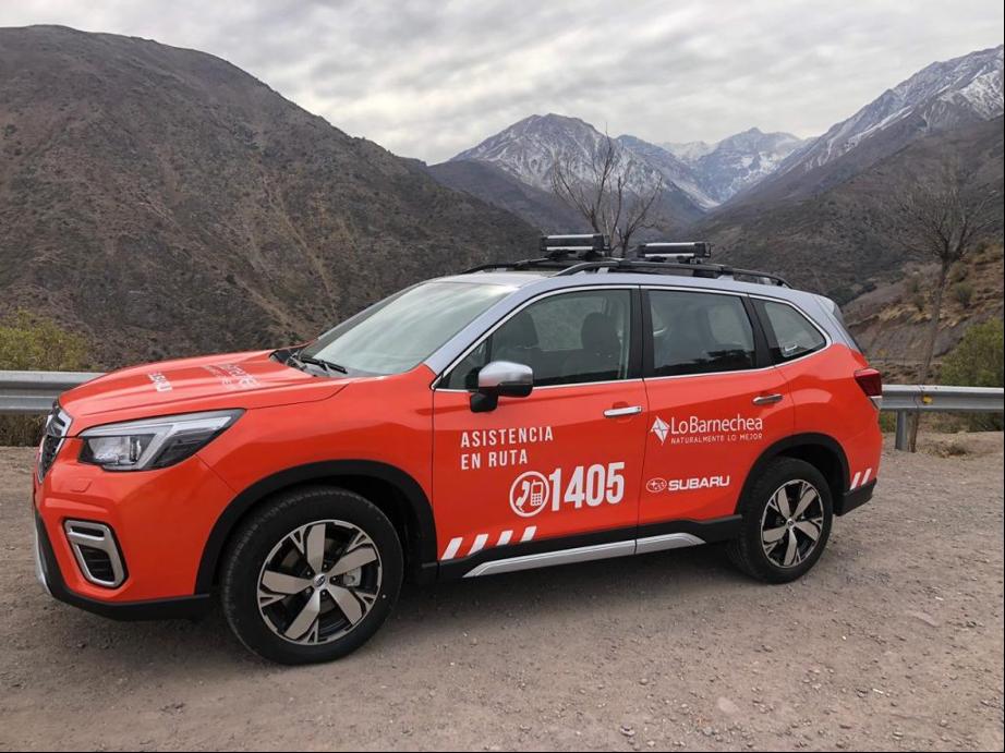 Subaru Chile y proseguridad de Lo Barnechea realizan asistencia en ruta a la montaña
