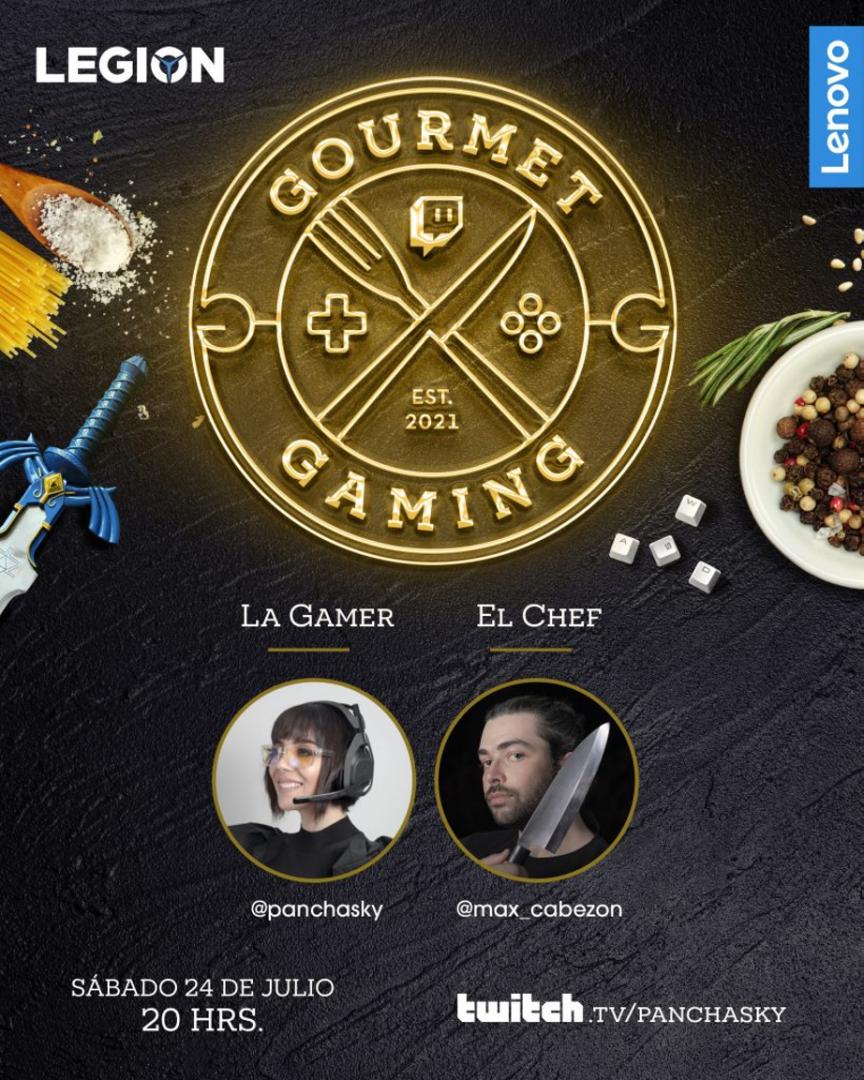 Gourmet y Gaming sí combinan; la apuesta programática de Max Cabezón y Pancha Sky